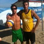 beach volley a Rimini il 15 Ottobre 2012 con i miei amici